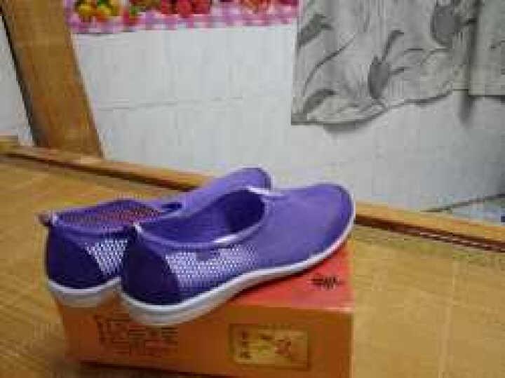 唐宋福网鞋女2017夏季新款女士彩色透气网鞋老北京工艺布鞋 72003梅红 38 晒单图