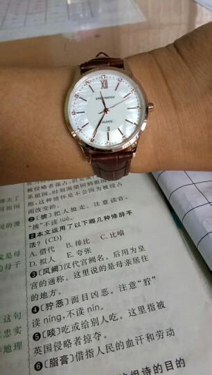 依伦(eren)手表女士手表时尚贝母女表纤薄潮流简约日期表 优雅炫彩紫 晒单图