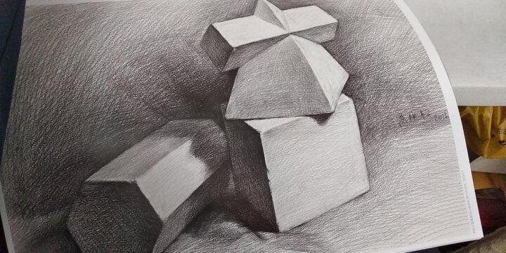 素描几何体零基础入门教程书石膏静物铅笔素描技法结构艺术美术绘画临摹本经典全集杨建飞主编素描 晒单图