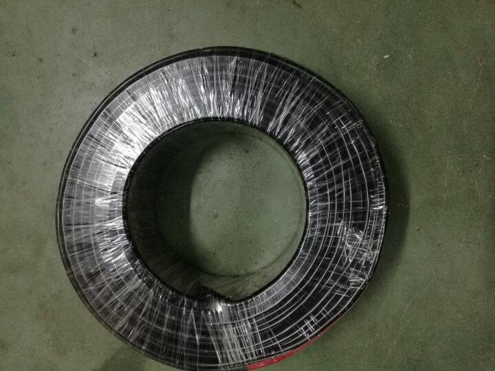 JYS金胜电线电缆线三芯ZB-RVV3*1.5平方软护套线国标ZR阻燃纯铜芯3芯多股监控户外电源线 黑色 50米 晒单图