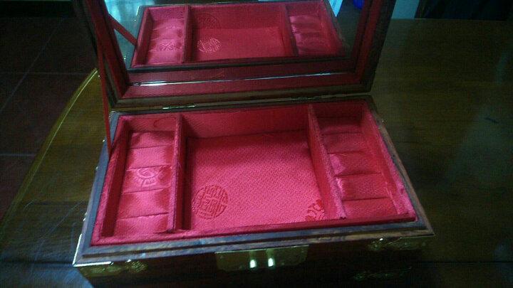 玄同 老挝大红酸枝珠宝箱首饰盒化妆箱红木雕摆件工艺礼品 密码款 晒单图