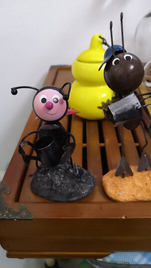 翻旧事 铁皮蚂蚁田园可爱小饰品玄关摆设创意家居装饰品摆件手工制品精美礼品 瓢虫拿花 0 晒单图