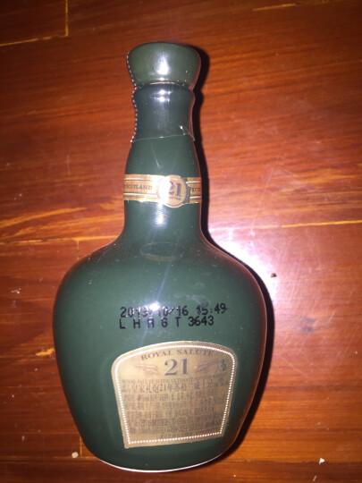 缺【侠风中国】皇家礼炮(Royal Salute)威士忌 原瓶进口洋酒(小酒办酒伴酒版) 皇家礼炮21年50ml(蓝色陶瓷瓶) 晒单图