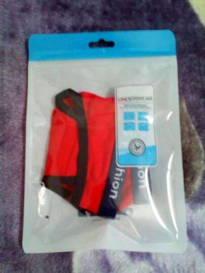 纤诗月丁字裤女性感运动健身内裤纯棉低腰无痕隐形T裤 3074组合三本命年组合 红+红+红 L 晒单图