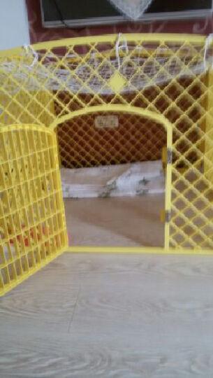 捣蛋鬼猫狗笼子小型犬 可折叠宠物栅栏围栏小狗笼子泰迪比熊用品 黄色 长宽高:100*100*75CM 晒单图