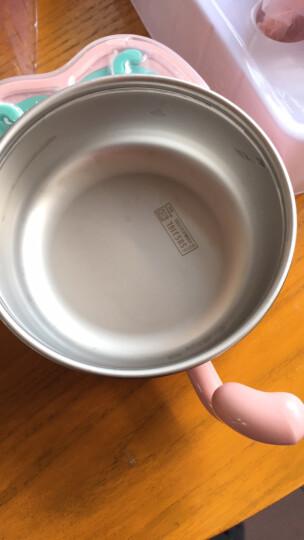 babycare儿童餐具套装保温碗婴儿碗耐热保温不锈钢吸盘碗婴儿餐具 粉色5件套 晒单图