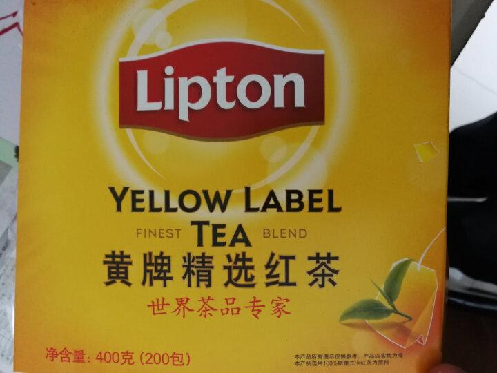 立顿Lipton  红茶 茶叶 黄牌精选红茶200包400g 袋泡茶茶包 餐厅奶茶店(新旧包装交替发货) 晒单图