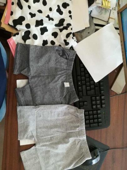 南极人(Nanjiren)【20款可选】南极人童装男女宝宝短袖套装夏季儿童T恤半袖两件套 黑色小熊-白色 90CM 晒单图