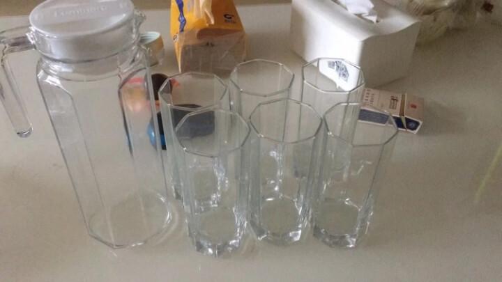 乐美雅(Luminarc)无铅玻璃冷水壶凉水果汁壶 茶水杯饮料杯 7件套 八角雪具樽 晒单图
