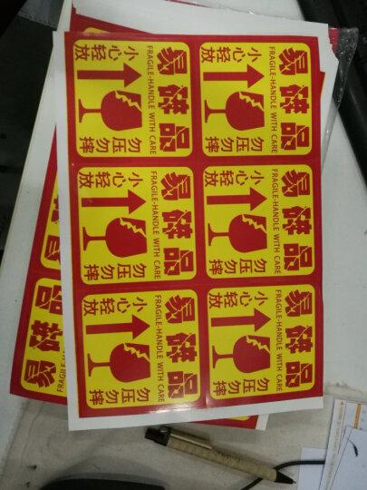 锦成印刷 500贴 不干胶易碎品标签贴纸打包快递物流警告语贴纸 E款 8.8*8.8cm 晒单图