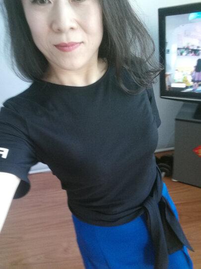 MO&Co.2017夏季新品个性绑带束腰V字领短袖T恤女MA172TEE211moco 烈焰红色 XL 晒单图