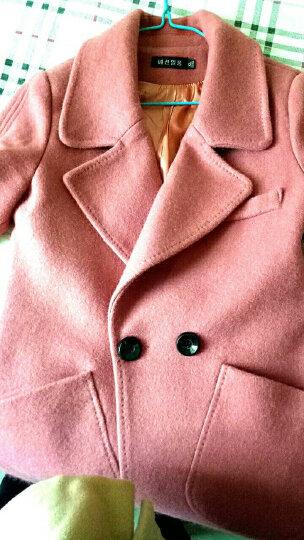 麦芭禾 格子毛呢大衣女2018秋冬装女新款时尚韩版学生毛呢外套女中长款呢子外套冬 西瓜红色 XL 晒单图