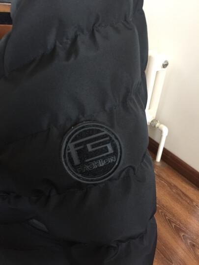 袋鼠(DaiShu)棉衣男装2017冬季棉服男士新款休闲修身外套加厚衣服保暖棉袄男 灰色 4XL 晒单图