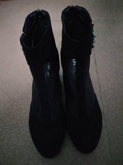 尚迪林 凉鞋女夏季中跟2019新款韩版舒适深口百搭女鞋粗跟高跟包头网纱女鞋子 蓝色 37 晒单图