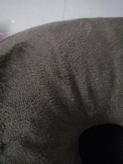 马图腾 印花U型枕护颈枕 泡沫粒子飞机旅行汽车头枕 车家两用颈椎枕头保健午睡枕午休枕头靠枕头 玫瑰 晒单图