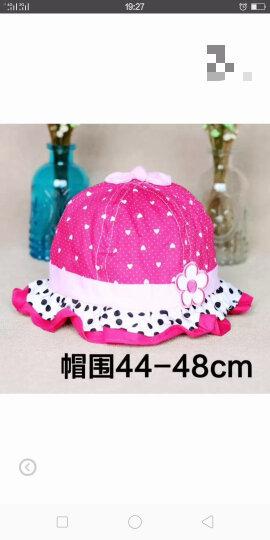 婴儿盆帽0-3-6-12个月夏天女童蕾丝春秋季小孩遮阳宝宝太阳帽子薄款防晒帽花边新生儿渔夫帽 蘑菇婴儿网帽蓝色 晒单图