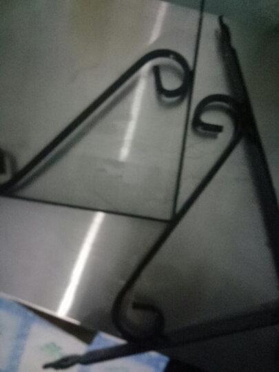 黑S型三角支架墙桌面架欧式铁艺三角支架层板置物架托架九比三角托架 不含隔板  4号290X240X25mm两支价格 晒单图