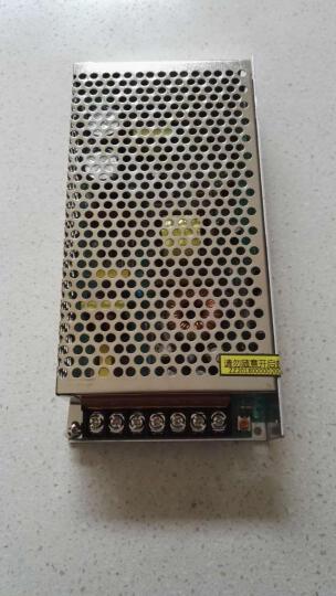 明伟12V开关电源 S-120W-12v10a变压器220v转12v监控摄像LED灯带交流转直流电源 白色 12V10A 晒单图