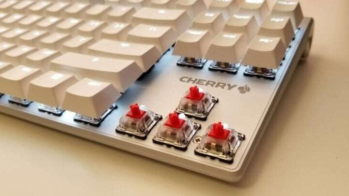 樱桃(CHERRY)MX-Board 8.0 G80-3880HYAEU-0 背光游戏机械键盘 白色红轴 绝地求生 吃鸡键盘 晒单图