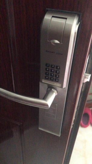 必达G6指纹锁家用电子锁密码锁智能门锁防盗门锁大门锁免费安装 G6FK时尚银(指纹+密码 干电池) 带防倒钩 晒单图