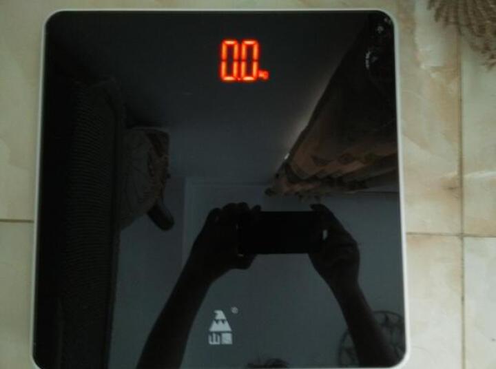 山鹰(gracy) 体重计电子秤体重家用精准人体秤 魅炫黑白 晒单图