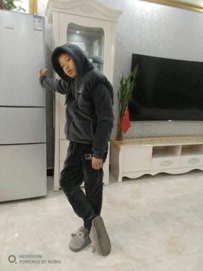 乐卡公鸡运动套装男2018夏季新款韩版短袖运动服男士休闲套装 1808-白色 L 晒单图