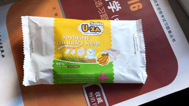 U-ZA婴儿大豆洗衣皂新生儿宝宝儿童专用肥皂韩国进口uza香皂180g 晒单图
