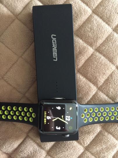 绿联 MFi认证 苹果手表无线磁力充电宝 iwatch3/2/1移动电源4400毫安iPhoneX/8/7USB数据线充电器底座20845黑 晒单图