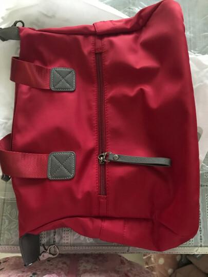 艾风尚 秋冬新款女包欧美时尚女士手提包尼龙牛津布单肩斜挎大包旅行潮包 小号黑色 晒单图