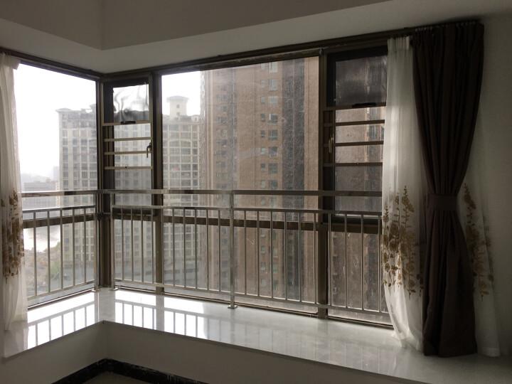 铭聚布艺窗帘成品简约现代高精密遮光卧室客厅定制窗帘布料 简约主义 咖啡色-挂钩式 定制4.0米宽*2.65米高 晒单图