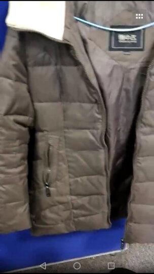 雪中飞羽绒衣服女中长款修身羊羔毛相拼连帽X1301116 127113(富贵棕) 160/84A 晒单图