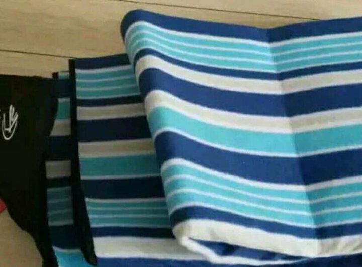红色营地 野餐垫防潮垫 户外地垫野炊春游 露营沙滩垫子草坪垫子加厚 蓝条纹150*200 晒单图