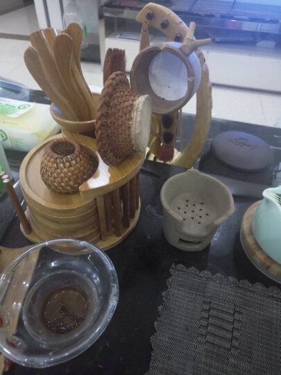 竹木制茶道六君子组合茶夹茶勺茶针杯托配件功夫茶具茶道 楠竹小提琴茶道 晒单图