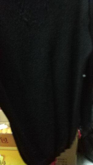 恒源祥针织衫男圆领高领中青年纯色秋冬款毛衣打底衫16182706 黑色2705 170/110 晒单图