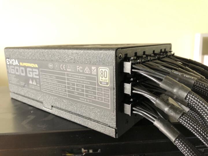 EVGA 额定1600w 1600 G2 电源 (80PLUS金牌/全模组/10年质保/14cm风扇/ECO节能/全日系电容) 晒单图