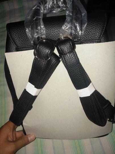 稻草人(MEXICAN)双肩包女休闲韩版背包女士MTC70353L-05 黑色 晒单图