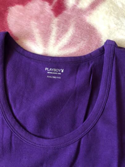 花花公子夏季男士青年打底运动背心纯棉修身型透气全棉紧身跨栏潮 中国红 XXL 晒单图