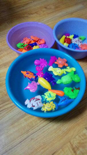 爱美达 儿童益智戏水磁性钓鱼玩具套餐 家庭广场公园地摊磁性小猫钓鱼 54件套装 晒单图