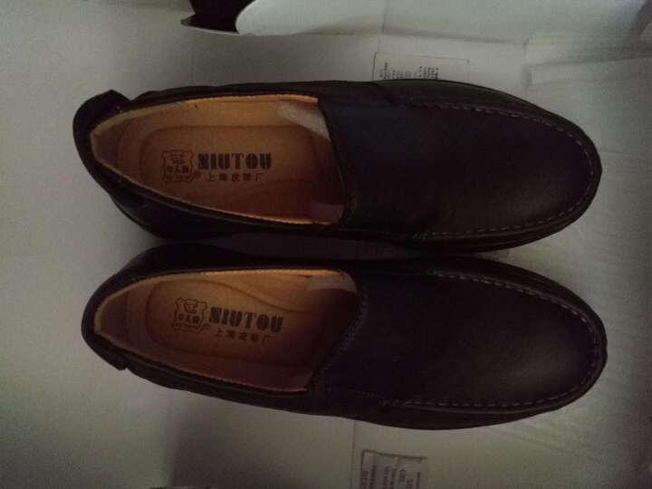 牛头牌男鞋NT853 上海皮鞋厂专柜正品头层牛皮商务休闲正装时尚舒适男皮鞋 棕色 43 晒单图