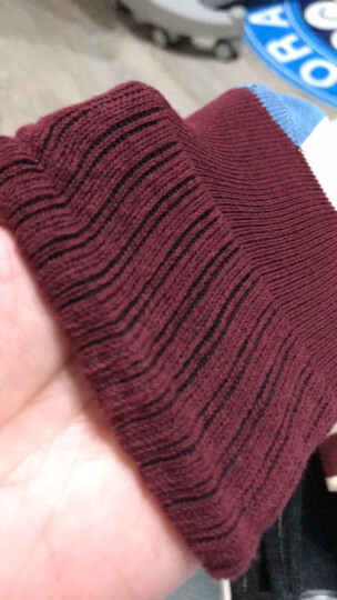 【5双装】南极人儿童袜子四季袜男童女童棉袜宝宝袜子 素色两道杠 M14(4-6) 晒单图