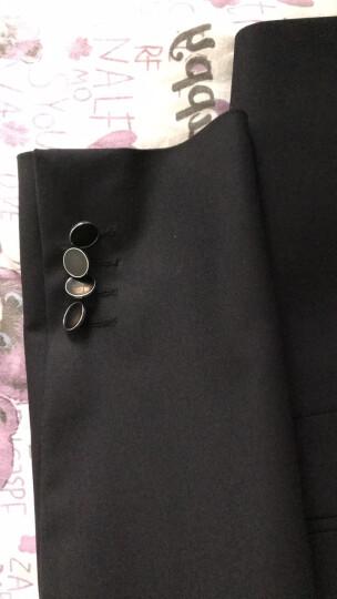 报喜鸟春夏新款商务正装西服套装 绅士修身羊毛青年职业西装 黑色 52A 晒单图