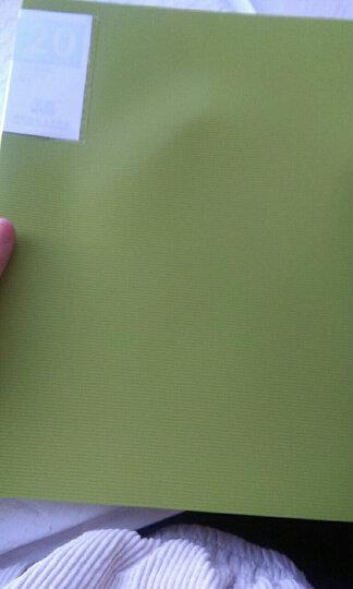 天色 A4资料册活页文件夹插页袋80/100页多层档案夹乐谱夹透明收纳档案卷子夹 玫红色 40页 晒单图