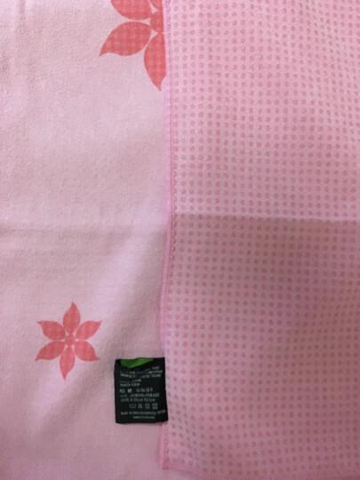 哈他瑜伽铺巾 硅胶防滑瑜伽垫毯子 加厚吸汗健身毯 粉色(送收纳包) 晒单图
