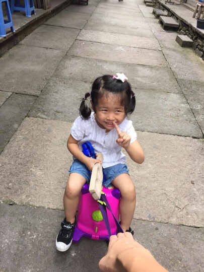 KO SHENG 儿童行李箱旅行箱可坐拖拉玩具骑行小孩宝宝个性拉箱子儿童圣诞节礼物 拉拉10030 晒单图