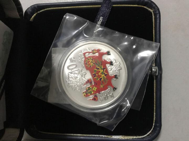 上海集藏 中国金币2009牛年生肖彩色纪念币  1盎司彩色银币彩银牛 晒单图