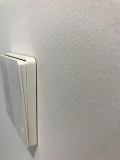 德力西开关插座 86型无边框开关墙壁电源插座带荧光拉丝珠光白 斜五孔 晒单图