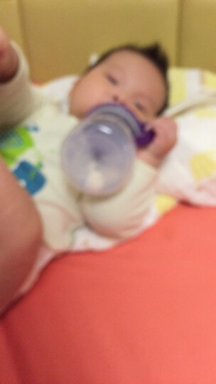 贝博士(b.box)重力饮水杯(紫色)宝宝学饮杯儿童水杯 婴儿防漏吸管杯 带手柄 晒单图