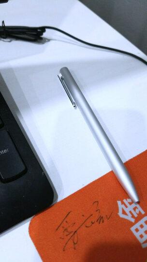 小米(MI) 米家签字笔 中性笔0.5mm油墨笔黑色水笔学生文具办公用品 金属签字笔-银色+笔芯1盒(3支) 晒单图