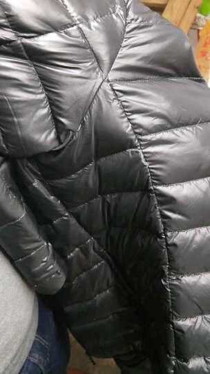 羽绒服男秋冬轻薄立领修身短款大码白鸭绒超轻薄中青年保暖外套潮 灰色 M(建议拍小一码) 晒单图