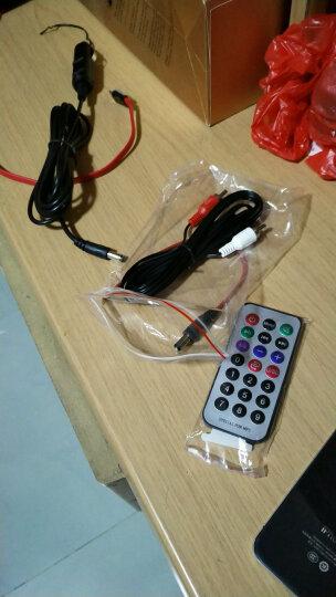 美声四季(meishengfourseasons) 车载低音炮汽车摩托蓝牙音响插卡U盘手机电脑音箱 5寸红色+2米点烟器线 晒单图